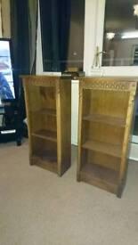 Pair of wooden storage units
