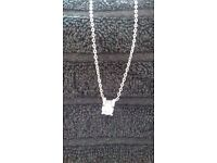Fifth NYC silver chain and white gold plated pendant