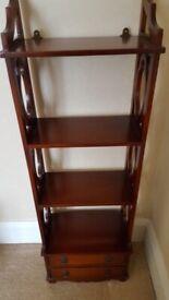 Small Mahogany Display Shelf Unit
