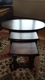 Antique Ercol nest of 3 tables