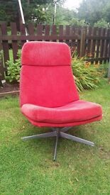 Swing melon/red chair with washable cover
