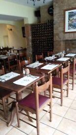 solid dark wood table foe restaurant or coffee shop