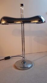 Gorgeous Heavyweight Silver Desk or Table lamp