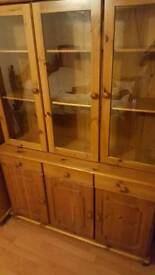 Perfect condition real oack wood showcase