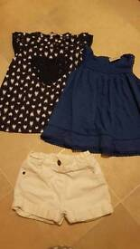 Girls tops and shorts 2-3