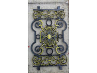 Decorative cast metal ornamental panels (New)