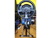 Thrustmaster T300RS with Wheelstand Pro.
