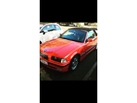 BMW 318I RED CONVERTIBLE 1.8 PETROL