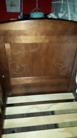 Cot / infant bed with storage