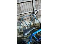 Men racing bike 5 gear 27, wheels excellent condition good tyres need back wheel