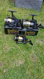3 x daiwa ss2600 carp fishing reels
