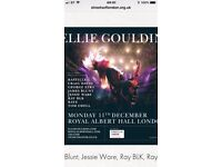 ELLIE GOULDING TICKET X 1 ROYAL ALBERT HALL , 11TH DEC. 2nd Tier above stage