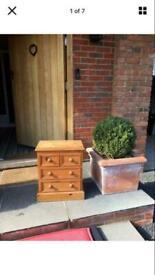 Chunky sturdy pine drawers