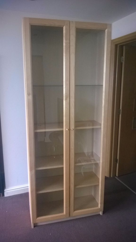 2 x used Ikea Billy bookcase with glass doors and optional glass shelf | in Nottingham City ...