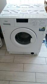 integrated white washing machine NEW