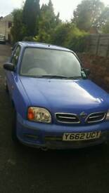 Micra 2001 very low mileage with new mot