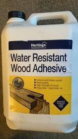 Water resistant wood adhesive