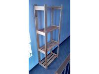 Light wood multi purpose shelf