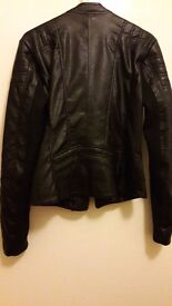 Ladies Superdry leather like motorcycle style jacket. BNWOT.