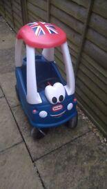 LITTLE TIKES BLUE COZY COUPE CAR