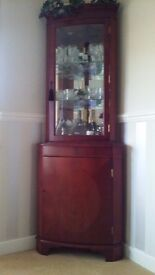 Corner Unit in Yew Type Furniture. Good condition