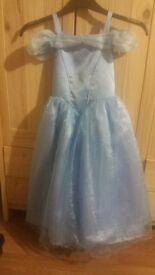 Girls cindlela Disney shop dress up age 7/8 great condition