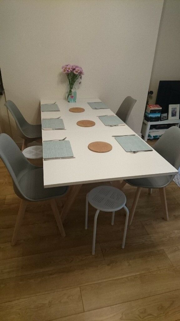 Habitat Jerry 4 8 Seat Extending Dining Table White Oak Excellent Condition Collection Only