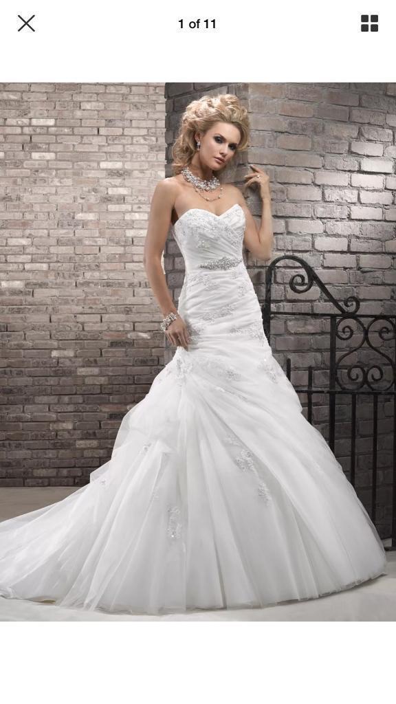 Maggie Sottero Serena Wedding Dress Size 8 Pee 145