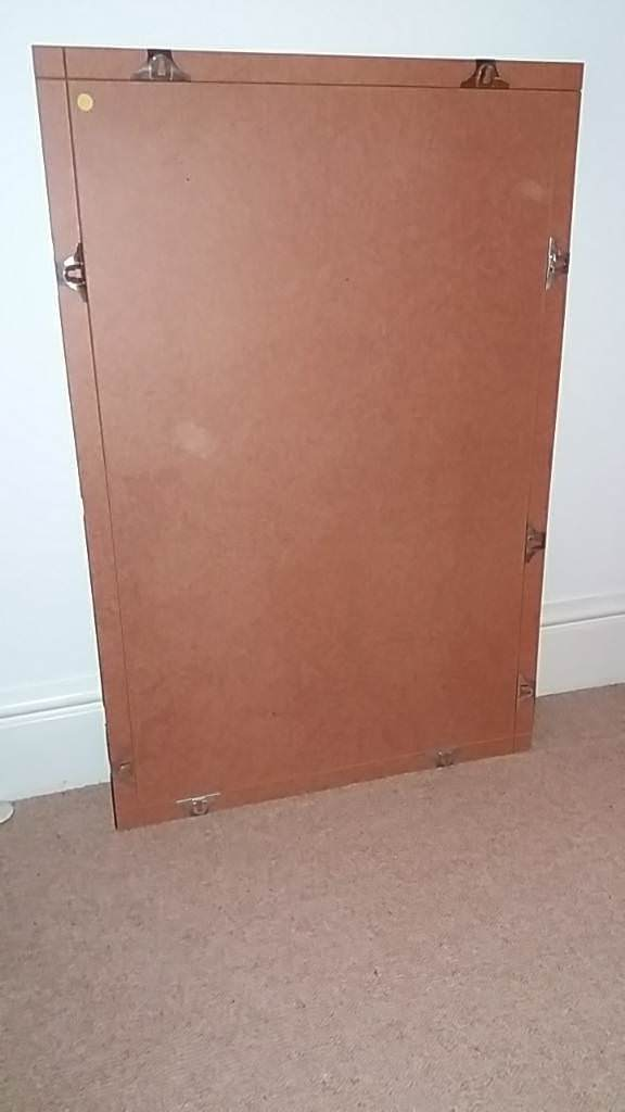 2x Large Frameless Clip Picture Frames Glass With Clips In Oxford