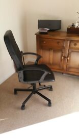 Office chair - faux leather, arms, adjustable