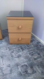 IKEA Malm two drawer bedside cabinet