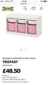 Ikea trofast with boxes