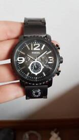 Metallic grey Fossil men's watch
