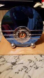 radio blue glass mirror SPIRIT OF ST LOUIS
