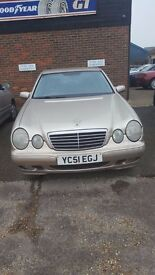 Mercedes Benz 2001 E CLASS for spares or repairs - £300 ono- Cash on Collection only
