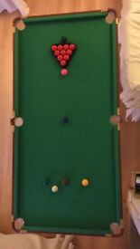 Pool table and tabletop pool table
