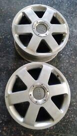 """Audi volkswagon 5x100 17"""" ronal tt wheels"""