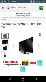 32inch Toshiba tv with freeview