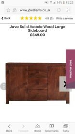 Java acacia wood large sideboard