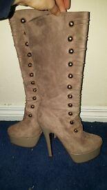 Long high heel boots