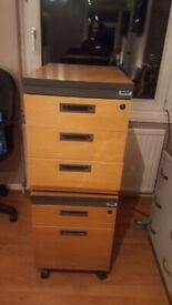 Filing cabinets on castors