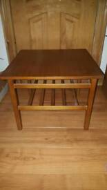 Teak coloured coffee / side table square shape fantastic condition danish style