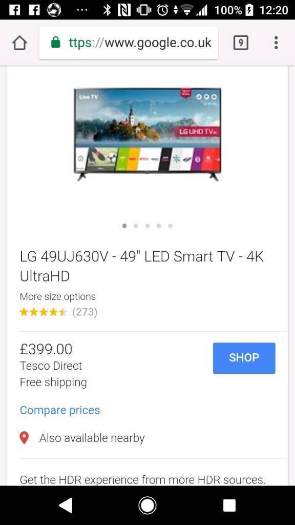 Lg 49 TV (NOT 42 43 50 55 SONY Samsung) Led smart Uhd tv