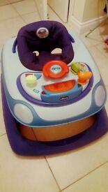 Chicco baby walker blue car