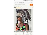 pocahontas indian tribal warrior feather headpiece fancy dress outfit festival mohawk hat cosplay