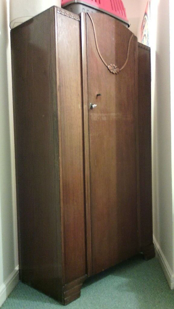 Very beautiful solid wood vintage wardrobe