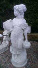Large concrete lady statue planter garden