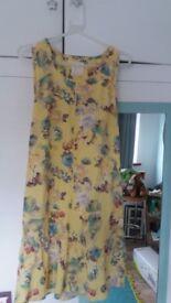 Next yellow floral sundress size 8 .