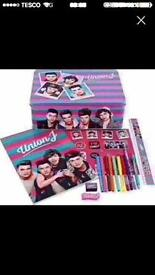 Union J gift tin filled with stationery NEW