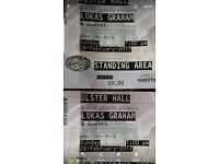 X 2 tickets for Lukas Graham @ Ulster Hall Belfast